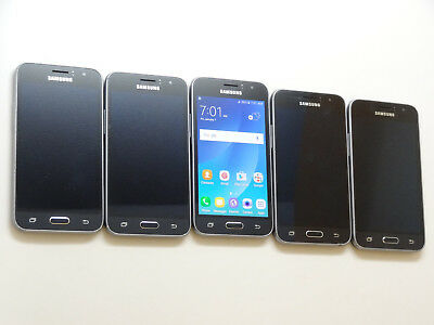 Lot of 5 Samsung Galaxy Amp 2 SM-J120AZ 8GB Cricket Smartphones AS-IS GSM