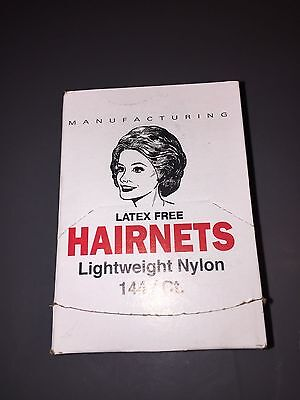 Cellucap White Lightweight Nylon Hairnets Hair nets - 144 per box - NEW