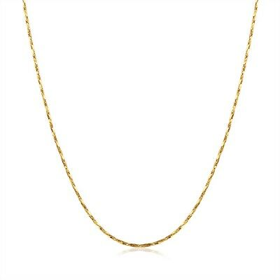 Women's Pendant Necklace Link 18K Yellow Gold Filled Fashion Jewelry 18'' Hot