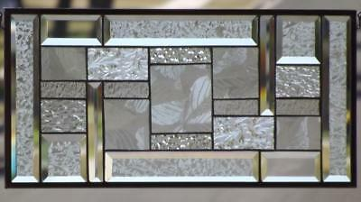 "•American Sycamore  •22 ½"" x 10 ½""(57X27 cm) •Beveled Stained Glass Window Panel"