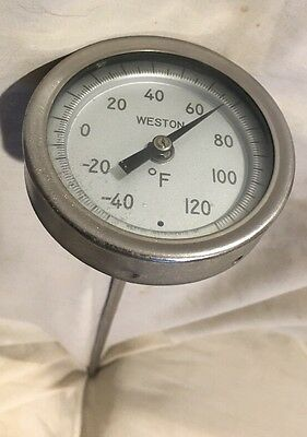"Western Thermometer 3"" Dial - 12"" Stem - 1/2"" NPT ( -40* to 120* F ) Mod# 4300"