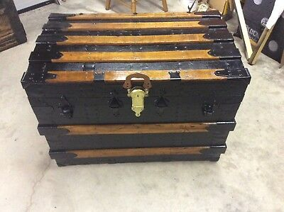 Antique Steamer Trunk/ Very Nicely Restored With Originally in Mind !!!!