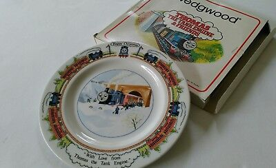Vintage Wedgwood Thomas The Tank Engine Christmas Dinner Plate 1984 With Box