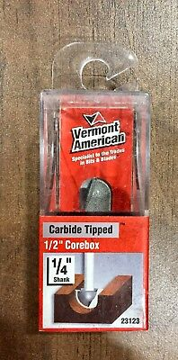 Vermont American  1/2 in. Dia. Carbide Tipped  Core Box  Router Bit