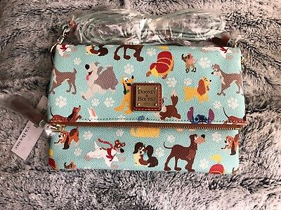 NWT Dooney & Bourke Disney Dogs Foldover Crossbody Bag Purse Small Sold Out
