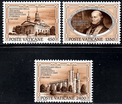(Ref-12186) Vatican City 1989 First Catholic Diocese USA  SG.945/947 Mint (MNH)