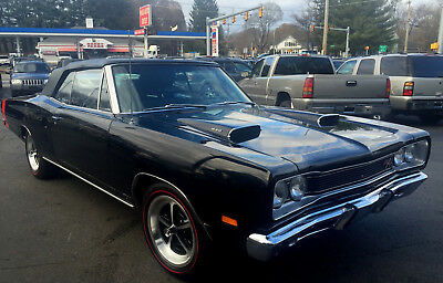 1969 Dodge Coronet R/T Convertible 1 of 416 built rare 69 DODGE CORONET R/T Convertible N96 Ramcharger Fresh restore with fender tag