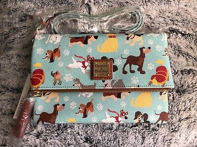 NWT Sold Out Dooney & Bourke Disney Dogs Foldover Crossbody Bag Purse Small