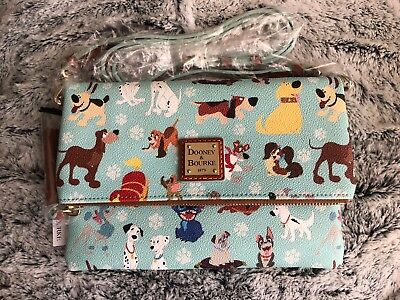 Dooney & Bourke NWT Disney Dogs Crossbody Foldover Bag Purse Small Sold Out