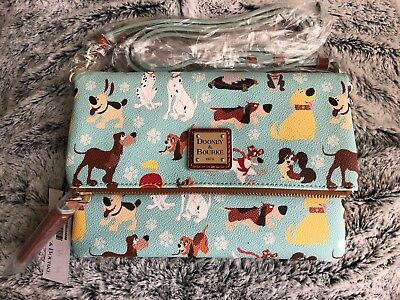 Dooney & Bourke Disney Dogs Crossbody Foldover Purse Bag Small NWT Sold Out
