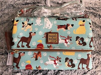 Sold Out NWT Dooney & Bourke Disney Dogs Foldover Crossbody Bag Purse Small