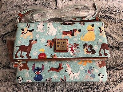 Disney Dogs Dooney & Bourke Foldover Crossbody NWT Sold Out Purse Bag Small
