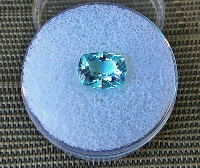 custom princess cushion unheated aquamarine