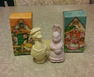 Avon, cottage friends, bunny and goose soaps.