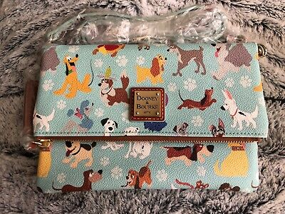 Disney Dogs Dooney & Bourke NWT Crossbody Foldover Bag Purse Small Sold Out