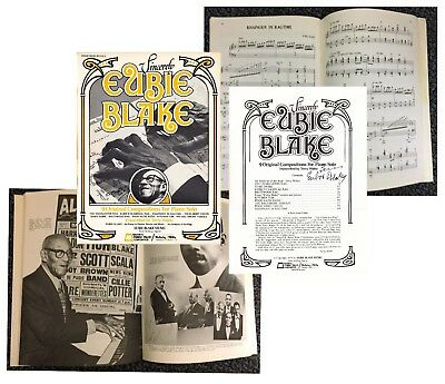 """EUBIE BLAKE Signed MUSIC FOR PIANO SOLO """"Sincerely Eubie Blake"""" 9 compositions"""