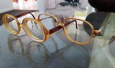 2 Pairs Vintage Original Funky Christian Dior Glasses Spectacles With Cases
