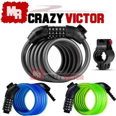 1.8m/1.2m Bike Bicycle Heavy Duty Steel Security Cable 5 Digit Combination Lock