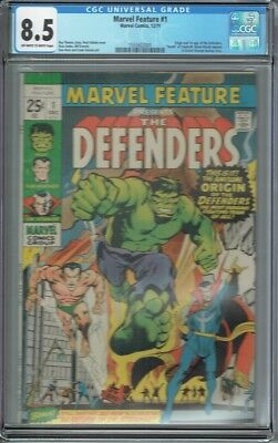 Cgc 8.5 Marvel Feature #1 Presents The Defenders 1St Appearance 1971