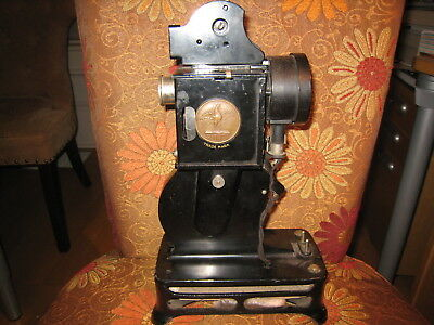 Pathex Vintage Antique Movie Projector France Art Deco Brass Rooster Medallion