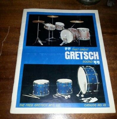 1963 Gretsch drum catalog #42 Good Condition vintage music 1960