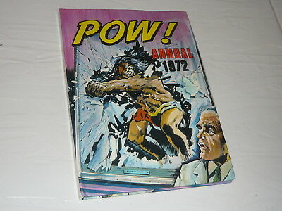 Pow Annual Comic Book 1972 hardback adventure race car dinosaur aircraft boxing