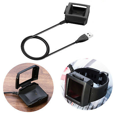 USB Charging Cable Cradle Fast Charger Dock Station for Fitbit Ionic Smart Watch