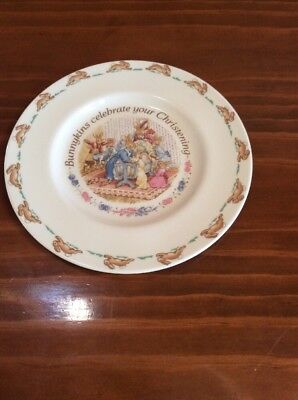 Royal Doulton 'bunnykins Celebrate Your Christening' Plate - 1993