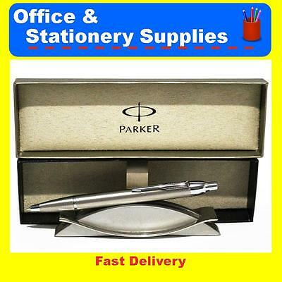 Parker Pen IM Brushed Stainless Steel Chrome Trim Ballpoint  with Box S20051755