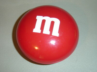 Red M & M Collectible Round Snap Together Tin