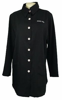 MARY KAY O26 Womens Black Official Consultant Lab Coat Jacket Smock Size M