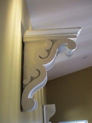 Very Large Antique White Corbel