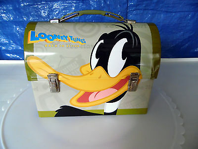 """Daffy Duck """"Looney Tunes Back in Action"""" Metal Lunchpail Box"""