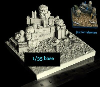 █ 1/35 Resin US Army Diorama Base Unpainted Unassembled TR385