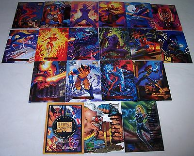 Marvel Masterpieces Gold Foil Signature Series 18 Card Lot