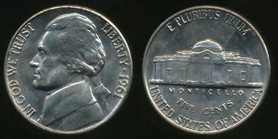 United States, 1961-P 5 Cents, Jefferson Nickel - Uncirculated