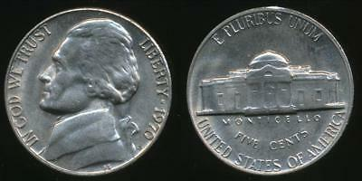 United States, 1970-S 5 Cents, Jefferson Nickel - Uncirculated