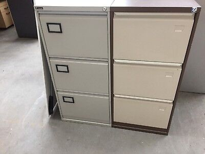 Assorted Grade A Steel 3 Drawer Foolscap Filing Cabinets, Only £30 Each + Vat
