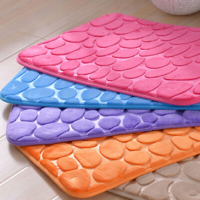 Household Non-Slip Rectangle Absorb Water Pebble Kitchen  Bathroom Bath Foam Pad