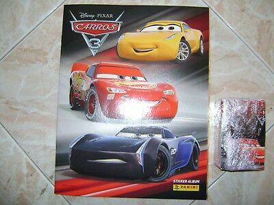 Panini Cars 3 Complete With Empty Album + 208 Stickers
