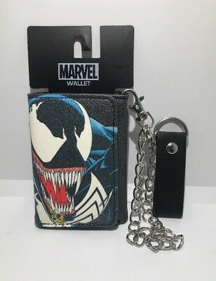 Marvel Venom Trifold Wallet With Chain