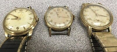 Vintage HAMILTON MENS WATCH (748, HAMILTON-ILLINOIS) LOT OF 3 - PARTS / REPAIR