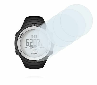 Suunto Core Glacier Gray Watch, 6x Transparent ULTRA Clear Screen Protector