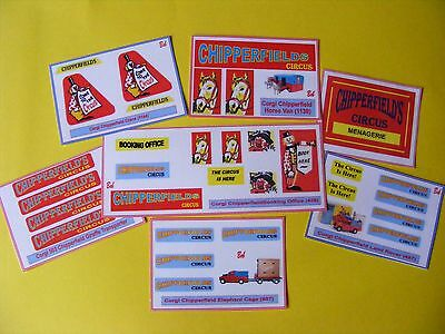 Corgi Type Chipperfield Sticker Collection – Seven Different Sheets