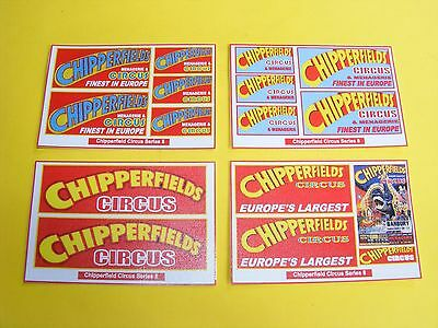 Chipperfield Circus Stickers Series 8  - Pack Of 4 Mini-Sheets
