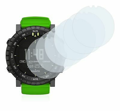 Suunto Core Green Crush Smart Watch, 6x Transparent ULTRA Clear Screen Protector