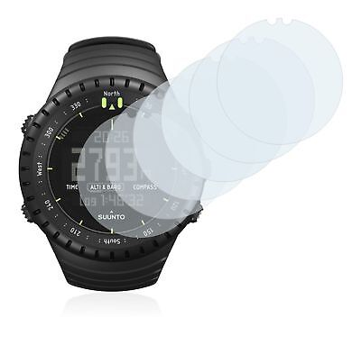 Suunto Core All Black Smart Watch, 6x Transparent ULTRA Clear Screen Protector