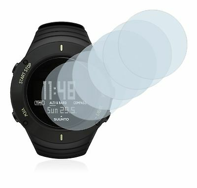 Suunto Core Ultimate Black Watch, 6 x Transparent ULTRA Clear Screen Protector