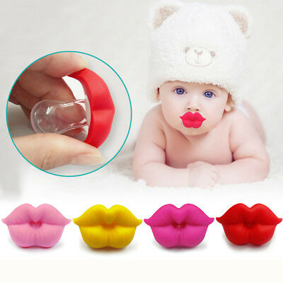 Baby Kids Infant Lip Shaped Silicone Dummy Pacifier Clip Teething Soother Holder