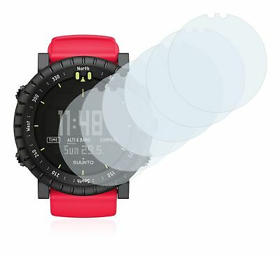 Suunto Core Red Crush Smart Watch, 6 x Transparent ULTRA Clear Screen Protector